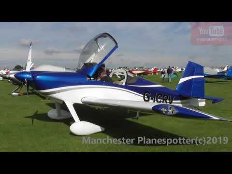 (HD) Plane Spotting At The LAA Rally Sywell With Lots Of Action On The 31/08/2019