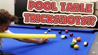POOL TABLE TRICKSHOT CHALLENGE WITH UNSPEAKABLEGAMING & MOOSECRAFT! | Kholo.pk