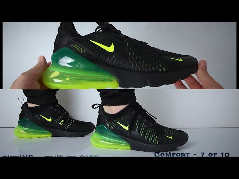 Nike Air Max 270 Black Volt (Review) - UNBOXING & ON FEET