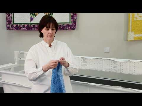 JUKI TL-2200QVP Longarm - Attaching Fabric to the Quilting Frame