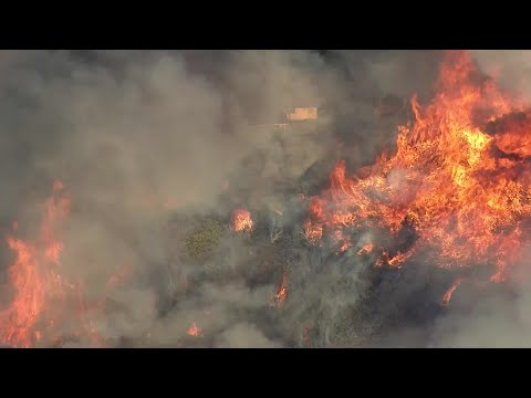 Evacuations Ordered As Apple Fire Burns 60 Acres In Cherry Valley, Threatens Homes