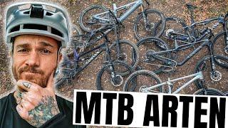 MTB Arten erklärt: Cross Country, All Mountain, Enduro, Downhill, E-MTB & Dirt Jump   Fabio Schäfer