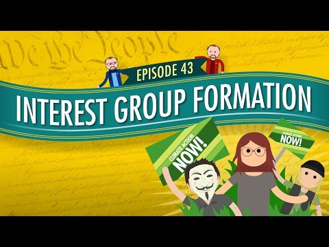 Video Interest Group Formation: Crash Course Government and Politics #43