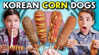 Kids Try Korean Corn Dogs! | Kids Vs. Food