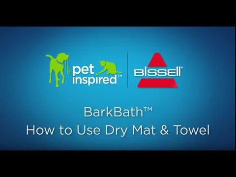 BARKBATH™ - How to Use Dry Mat and Towel Video