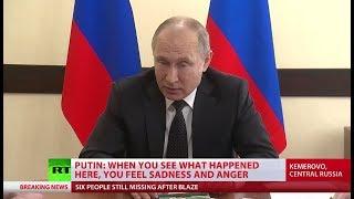 Putin slams 'criminal negligence' that led to deadly Kemerovo inferno