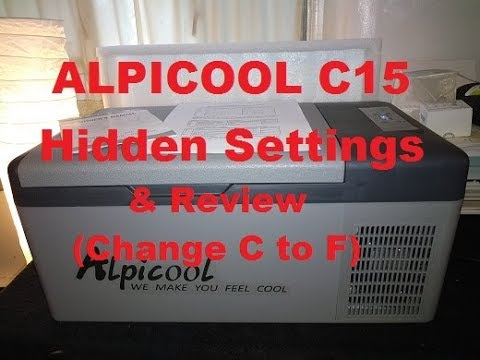 Alpicool c15 12v Compressor Fridge/Freezer Review – Hidden Settings (change C to F) PLEASE SUBSCRIBE