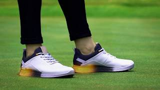 S-Three Men's Golf Shoe - Grey/Green-video