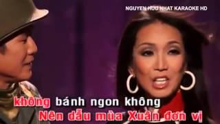Karaoke Mùa Xuân Lá Khô Tuấn Vũ Mỹ Huyền HD