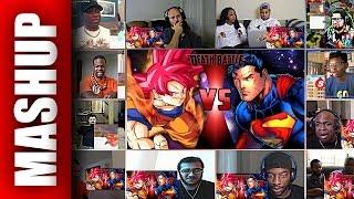 Goku vs Superman 2 DEATH BATTLE Reactions Mashup