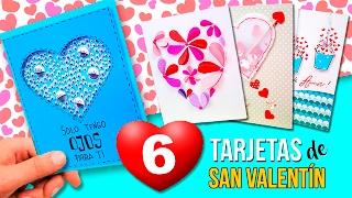 💌 6 ORIGINALES Tarjetas San Valentin FÁCILES De PINTEREST! * DIY MANUALIDADES Día De Los Enamorados