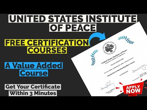 United States Institute Of Peace Free Online Courses With Free ...