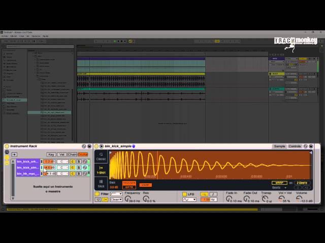 Ableton Live 9 Tutorial: 'Sound Design' Layering & Sidechain Ride [Español]