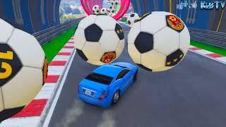Смотреть Мультики про Машинки для Мальчиков Гонки Игра Цветные Полицейские Машинки Песни для детей