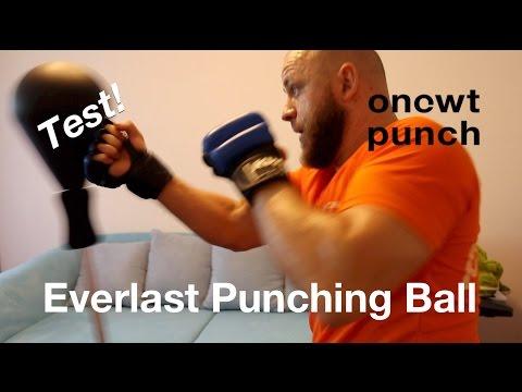 Everlast Punching Ball Test,One Two Punch. Spaß Training für Zuhause. Reaktion, Reflexe verbessern