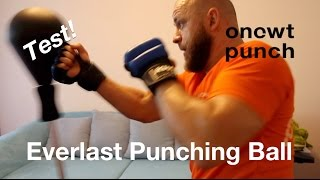 Everlast Punching Ball Test,One Two Punch. Spaß Training für Zuhause. Reaktion, Reflexe verbessern