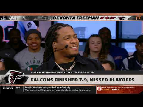 """Devonta Freeman & Stephen A. Crew DISCUSSES """"Falcons finished 7-9, missed playoffs"""" 