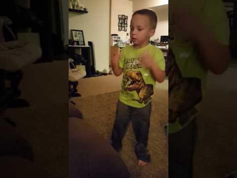 Jordan Dancing & Singing with Kidz Bop Kids - Fight Song - Age 5