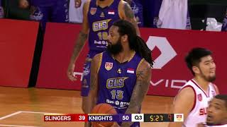 Singapore Slingers V BTN CLS Knights | CONDENSED HIGHLIGHTS | 2018-2019 ASEAN Basketball League
