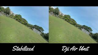 FPV - Taman Melati - Movavi Video Editor Plus Video Stabilization Comparison DJI Air Unit