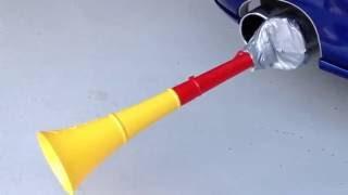 Vuvuzela making sound