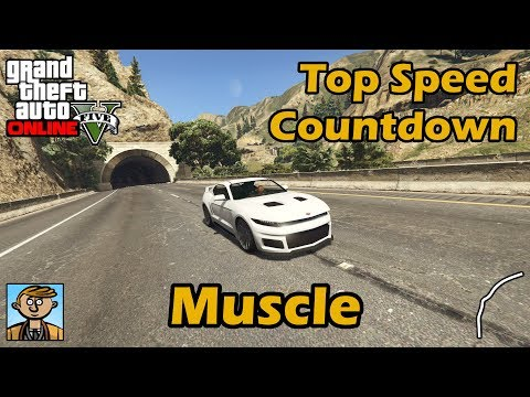 Fastest Muscle Cars (2018) - GTA 5 Best Fully Upgraded Cars Top Speed Countdown