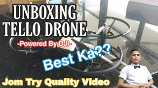 Unboxing Tello Drone Powered By DJI & FLYING TEST