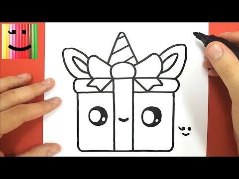 Comment Dessiner Un Cadeau Licorne Kawaii Tutotube Fr Le