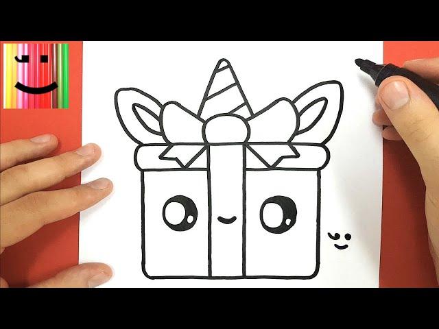 Comment-dessiner-un-cadeau-licorne