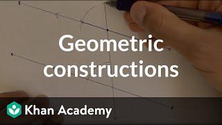 Geometric Constructions: Parallel Line | Congruence | High School Geometry | Khan Academy
