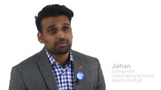 Johan talks about the pain that rheumatoid arthritis causes him every day