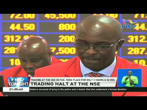 NSE attributes the temporary trading halt to a technical hitch