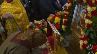 Мощи Святого Равноапостольного князя Владимира принесены для поклонения верующих в новгородские храмы