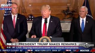 WATCH:  Trump Speaks & Signs CONTROVERSIAL Executive Order on Federal Lands