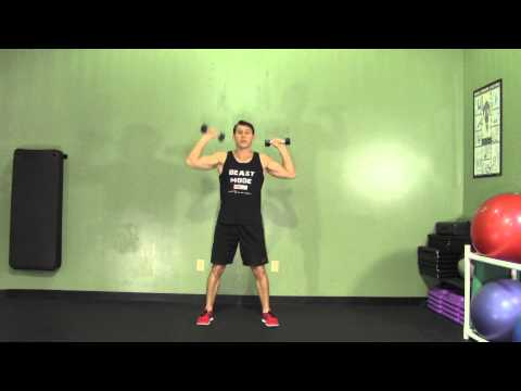 Alternating Shoulder Press – HASfit Cardio Exercises – Cardiovascular Aerobic Exercise