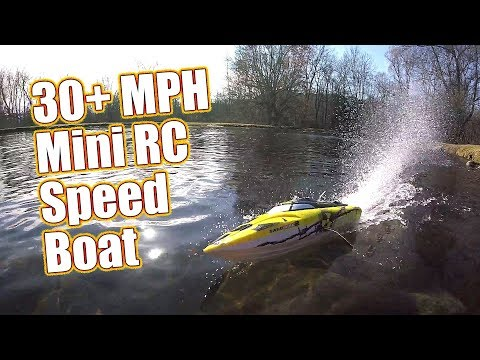 30+MPH Self-Righting 17″ RC Speed Boat – Atomik Barbwire 2 Racing Boat Running & Review | RC Driver