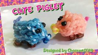 Diy Loom Bands Cute Piglet Rainbow Loom Tutorial彩虹橡筋可愛小豬編織教學