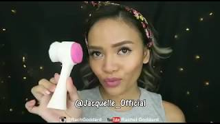 Clean Face Routine With Rachel Goddard & Jacquelle Clean Pink Face Brush