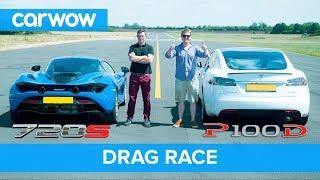 Tesla Model S P100D vs Mclaren 720S DRAG RACE, ROLLING RACE & BRAKE TEST | Mat vs Shmee pt 4/4