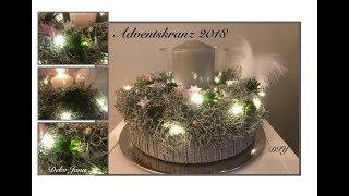 Diy Last Minute Deko Idee Adventsgesteck Sternenregen Mit