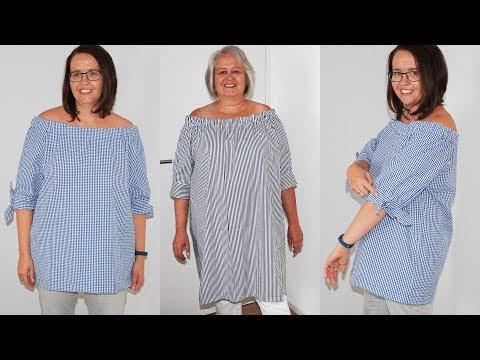 Kleid und Bluse -Boyfriend Shirt- nähen mit Schnittmuster