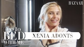 Xenia Adonts' Nighttime Skincare Routine | Go To Bed With Me | Harper's BAZAAR