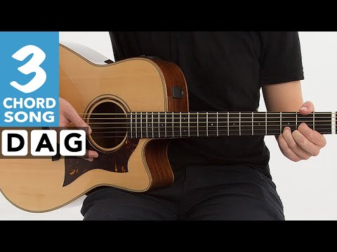 Mull of kintyre EASY 4 chord guitar song - Beginners guitar lesson