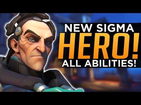 Overwatch: NEW Hero Sigma Gameplay! - ALL Abilities Breakdown