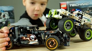 Гоночные Машины Lego Technic !!! Мультики про Машинки, Полицейский Джип - Видео для Детей
