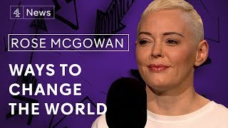 Channel 4 News | Rose McGowan on Weinstein, growing up in a cult and running for President