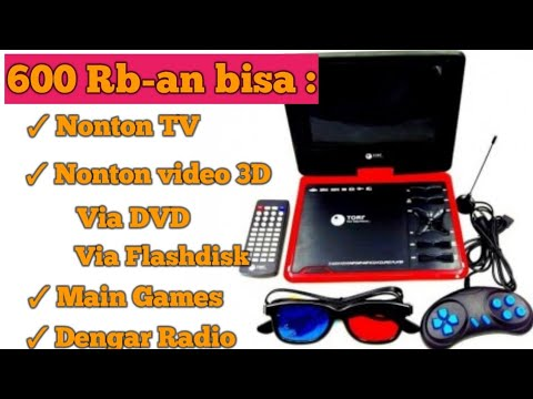 Unboxing & Review TV DVD Portable