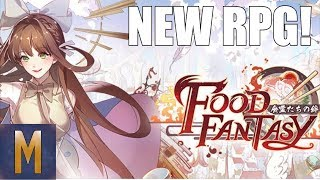 BEAUTIFUL RPG! Food Fantasy - First Impressions, Summons, Gameplay (Android & iOS 2018)