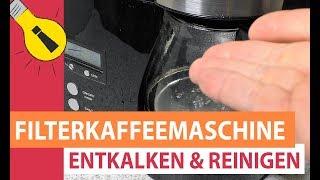 Kaffeemaschine entkalken & reinigen - Essig als Filterkaffeemaschine Reiniger und Entkalker