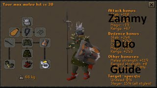 OSRS - Duo Zammy Guide for Tank/Attacker